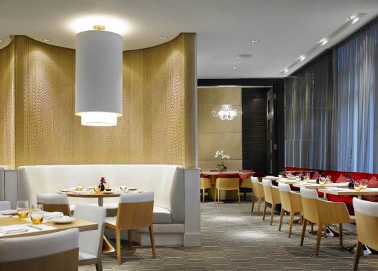 The elegant dining room at MARKET by Jean-Georges Vancouver.