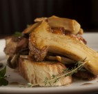 This mushroom and rabbit dish is part of La Buca
