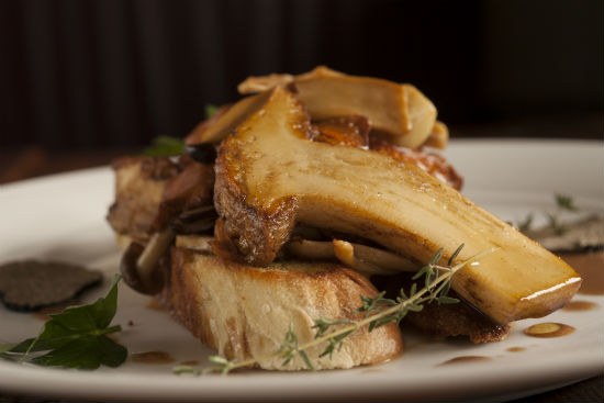 This mushroom and rabbit dish is part of La Buca's game and wild mushroom festival.