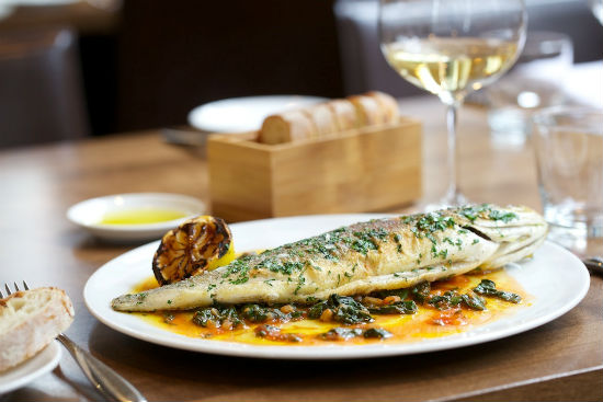 Trout scaloppine at La Pentola della Quercia in Yaletown. Photo from the Opus Hotel's website.