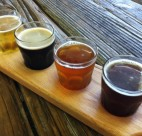 A flight of Persephone Brewing Company beer. Carolyn Ali photo.