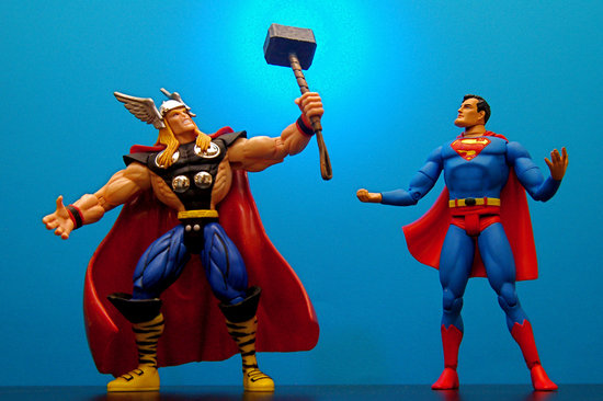 Thor & Superman || Photo Credit: Flickr/JD Hancock