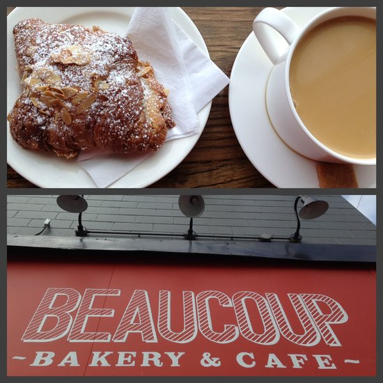 Beaucoup Bakery's almond croissant = yum. || Photo credit: Miranda Post