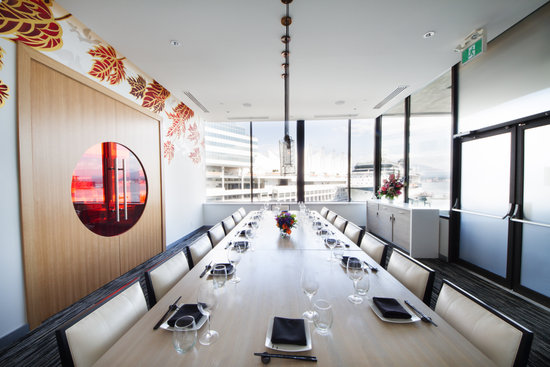 Miku Restaurant's Blue Sky Room - stunning views paired with your food.