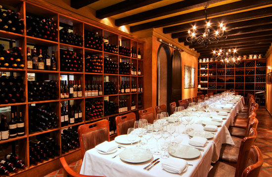 Impress your sommelier-wannabe in-laws with a meal in Cin Cin's Private Wine Room.