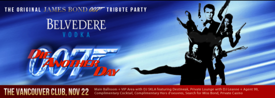 007 James Bond Party | Things To Do In Vancouver This Weekend