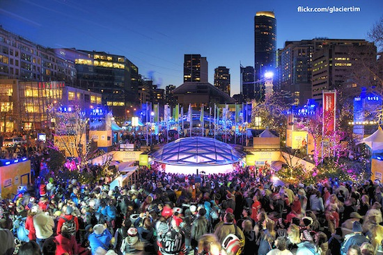 The Robson Square Ice Rink during the 2010 Olympics. Photo credit: Tim Shields | Flickr
