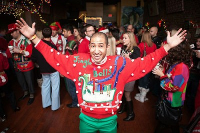 Ugly Christmas sweater parties are just fun. Photo credit: Flickr Ramsey Mohsen
