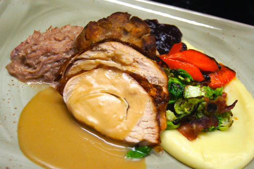 Fraser Valley turkey breast with all the trimmings at Yew seafood + bar.