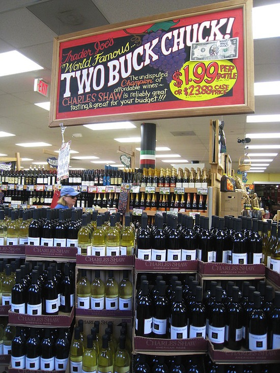 Wine sold at a Trader Joe's grocery story in the U.S. Photo credit: Mack Male | Wikimedia Commons