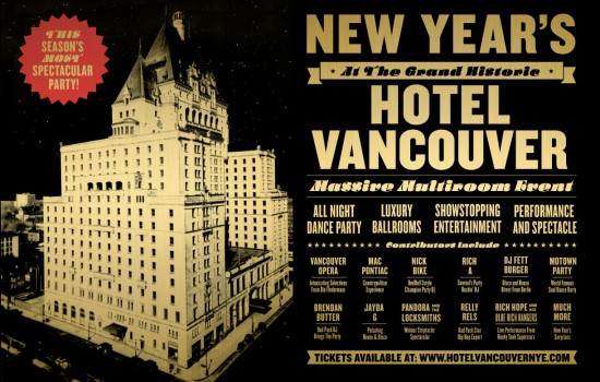 NYE at Hotel Vancouver | Things To Do In Vancouver This Weekend