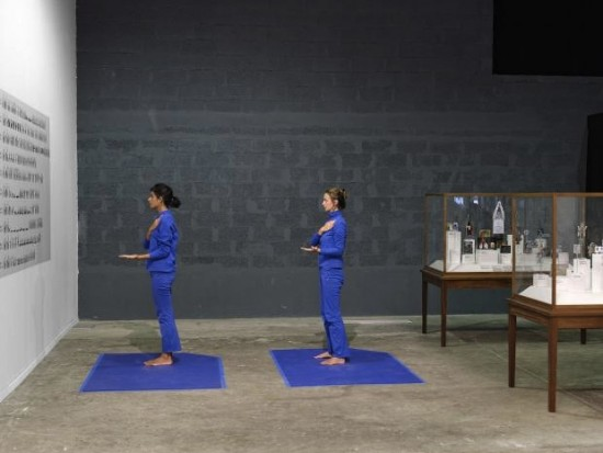 MadeIn Company's Physique of Consciousness, 2013 Installation at Lyon Biennale, 2013 performance and 35 display cases. Photo: Biennale de Lyon 2013.