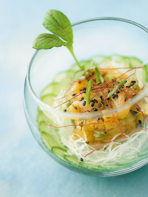 Blue Water Cafe sesame-marinated jellyfish | Photo credit John Sherlock
