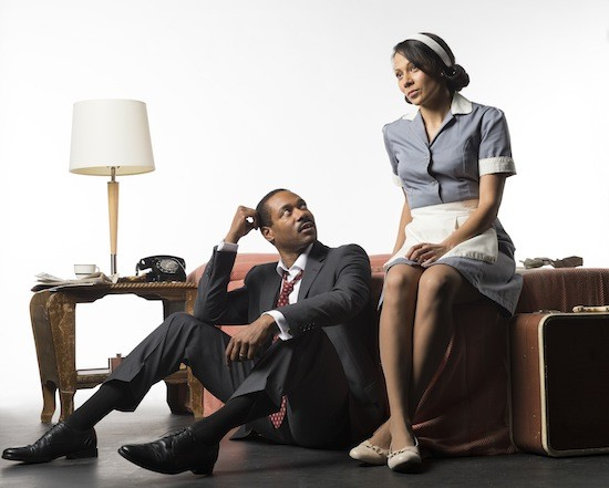 Dion Johnstone and Crystal Balint in the Arts Club's production of The Mountaintop.