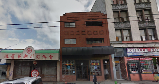 The venue for the pop-up, 337 E. Hastings St.