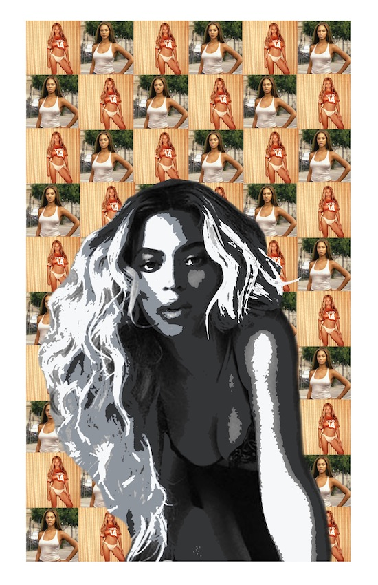 A sample of the art you can see at Flawless, an exhibit of locally sourced art dedicated to pop sensation Beyoncé. Cam McLeod illustration.