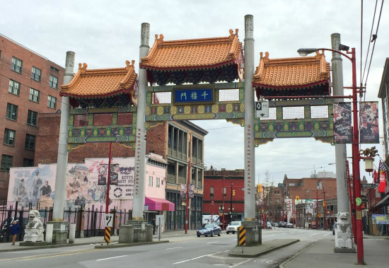 Vancouver's Millennium Gate in Chinatown