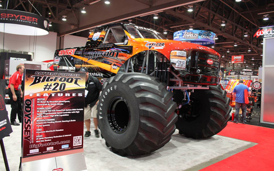 photo: The world's only 100% electric Bigfoot monster truck