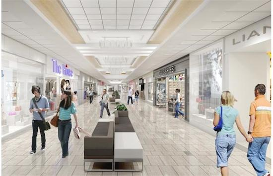 A rendering of the space below the new Nordstrom store, to be occupied by tenants including AllSaints and Abercrombie & Fitch