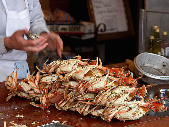 Dungeness crabs at San Francisco's Fishermen's Wharf