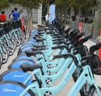 Bay Area Bike Share bicycles. Photo credit: Richard Masoner / Cyclelicious | Wikipedia
