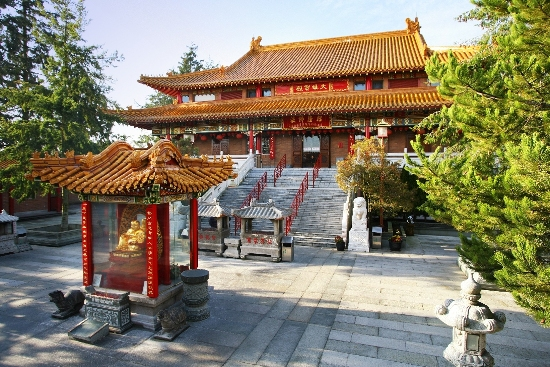 The Gracious Hall at the International Buddhist Temple