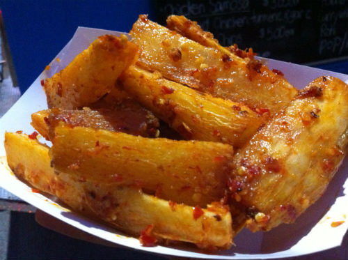 Spicy cassava fries from the Fujian Fusian food truck.   Carolyn Ali photo