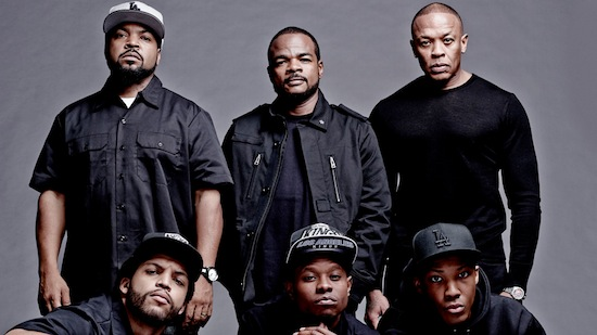 The cast of Straight Outta Compton.
