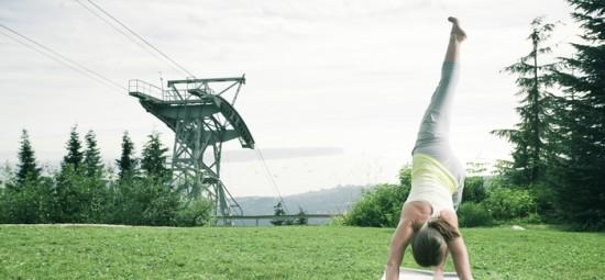 Yoga on Grouse Mountain