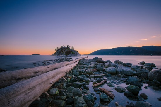 whytecliff park sunset vancouver