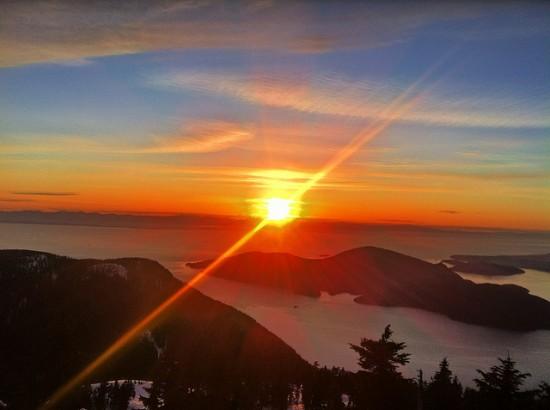 sunset cypress mountain