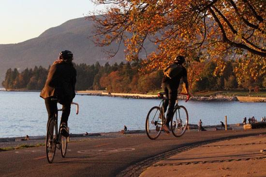 Cycling English Bay Vancouver