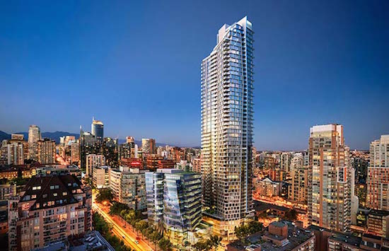 The new Burrard Place tower under construction in Vancouver has no 4th, 13th, 14th, 24th, 34th, 44th or 54th floors.