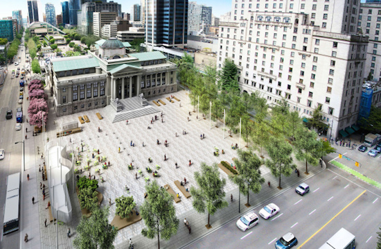 An artist's rendering of the proposal