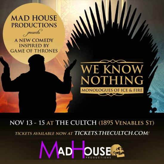 game of thrones comedy show
