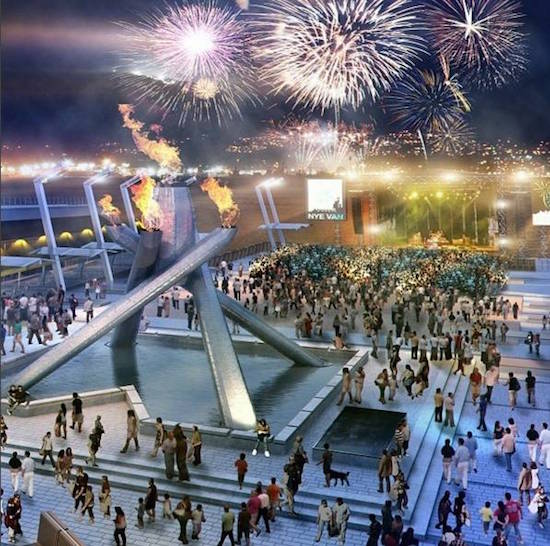 An artist's rendering of a previous planned NYE Vancouver celebration