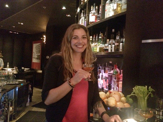 Lauren Mote poses with a Léine (single malts masterclass)