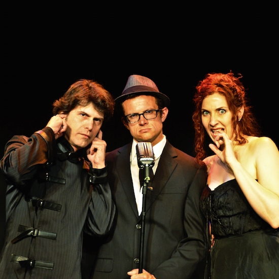 The cast of Phantom Signal, performing at Fox Cabaret as part of the JFL Comedy Fest.