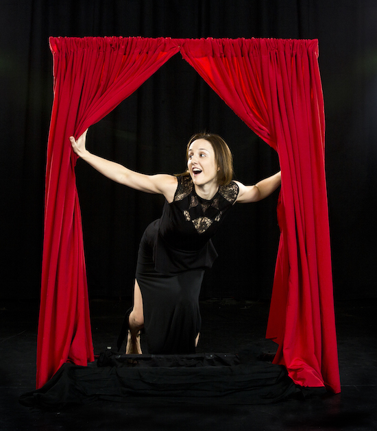Movement artist Jennifer McLeish-Lewis performs at Dances for a Small Stage 33 - The Valentine's Edition.