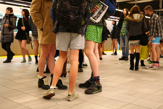 No Pants Skytrain Ride Photo: GoToVan | Flickr