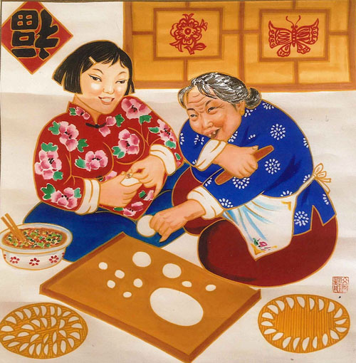 Gathering: Chinese New Year Folk Art by Gao Jing