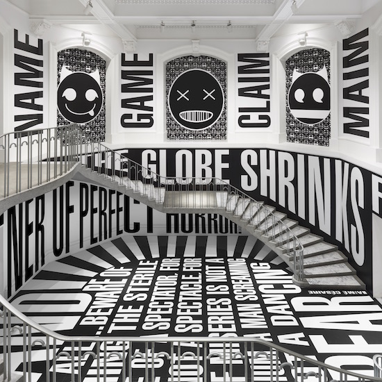 Barbara Kruger, Untitled (SmashUp), 2016 site-specific installation at the Vancouver Art Gallery Photo: Rachel Topham, Vancouver Art Gallery