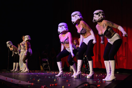 Star Wars Burlesque at the Rio Theatre, Vancouver, Nov 23 2013. Kirk Chantraine photo.