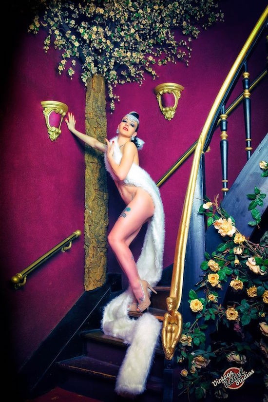 Italian burlesque performer Freaky Candy.