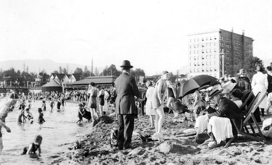 English Bay, 1923 | Photo by Hubert William Lovell, from Vancouver Archives