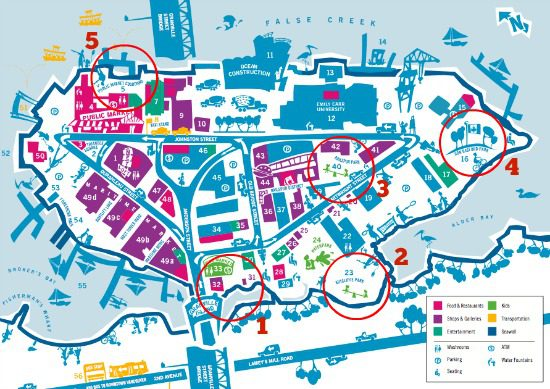 Granville Island Park Map