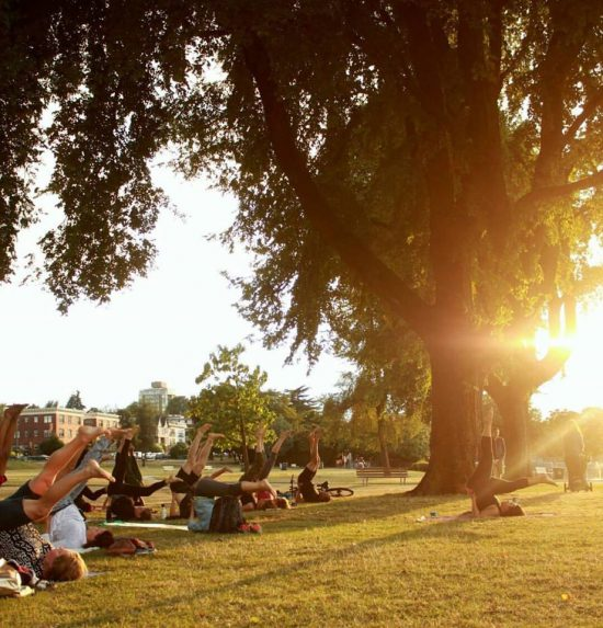 Outdoor yoga vancouver 2018
