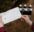 Alex and Maddy were among the first to discover the trail while walking their dog. This note became a special keepsake for Martin and Penny.