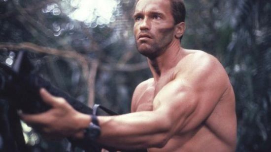 Arnold Schwarzenegger in the 1987 film Predator