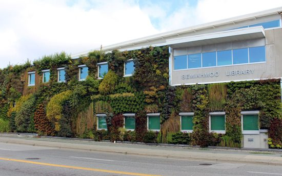 Discover Outdoors Living Walls Semiahmoo Library - Semiahmoo Sky Garden